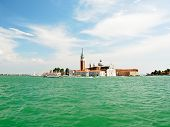 Skyline On Venice City With San Giorgio Maggiore Island