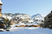 Cityscape Of Avoriaz Town In Alp, France