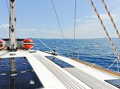 Yacht Deck In Blue Adriatic Sea