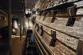 Interior Of Vasa Museum In Stockholm, Sweden