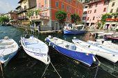 Mooring In Town Limone Sul Garda, Lake Garda