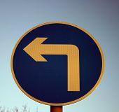 Left Turn Sign poster