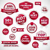 picture of recommendation  - vector price offer banner labels set - JPG