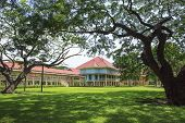 Beautiful Landscape Scene Of Marukhathaiyawan Palace Most Dazzle Wood Palace House In Cha-am Petchab
