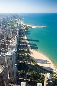 Chicago Skyline towards Lincoln Park