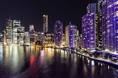 Brisbane Cityscape riverside by night