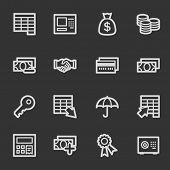 Finance and Banking web icons, grey set