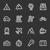 Travel web icon set 1, grey set