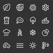 Green ecology web icon set 2, grey set