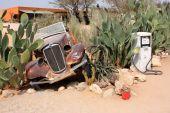Old Car In Namibian Desert