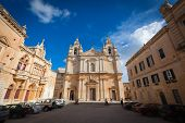 The St. Paul's Cathedral In Mdina