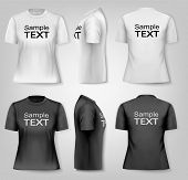 Female T-shirts with sample text space. Vector.