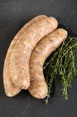Grill Sausage With Herbs In Natural Casing