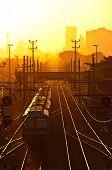 Train by Sunrise