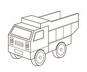 toy dump truck (vector illustration)