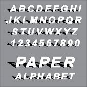 paper latin alphabet letters and arabic numbers