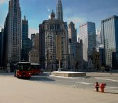 Winter Scene In Downtown Chicago