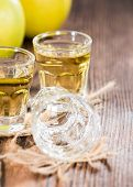 Apple Liqueur In A Glass