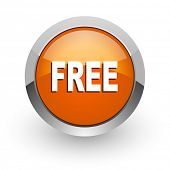 free orange glossy web icon