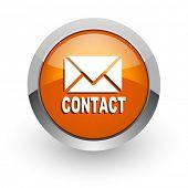 email orange glossy web icon