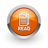 read orange glossy web icon