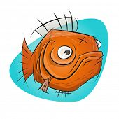 funny cartoon goldfish