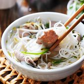 pic of steamy  - eating a steamy bowl of pho - JPG