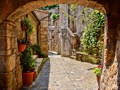 Medieval arched lane