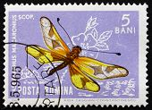 Postage Stamp Romania 1964 Asculaphid, Ascalaphus Macaronius, Insect