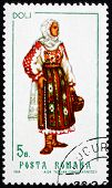 Postage Stamp Romania 1969 Woman From Dolj, Costume
