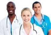Portrait Of Enthusiastic Medical Team