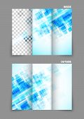 digital tri-fold brochure with squares