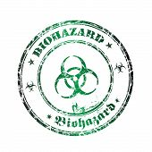 Biohazard grunge rubber stamp