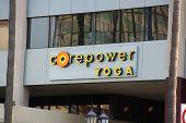 Corepower Yoga Studio Sign On Hollywood Boulevard