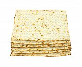 Small stack of crisp matzo crackers