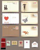 Vintage postcard designs, love postcard