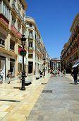 Calle Larios shopping street, Malaga.