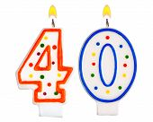 Birthday Candles Number Forty