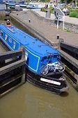 Narrowboat in lock, Stratford-upon-Avon.