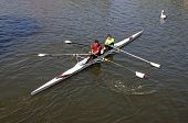 Coxless Pair Rowing.
