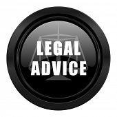 legal advice black icon law sign