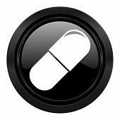 drugs black icon medical sign