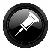 pin black icon