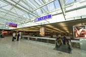 GENEVA - SEP 15: Airport interior on September 15, 2014 in Geneva, Switzerland. Geneva International Airport is located 4 km northwest of the city centre