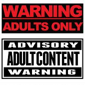 picture of adults only  - Two typohgraphical warnings - JPG