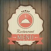 Creative restaurant menu cover design wit cooker icon