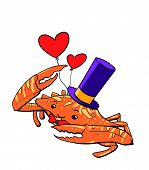 Magician Crab Cartoon Illustration