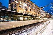 Bergen, Norway - December 29, 2014: evening the streets of Bergen at Christmas, Norway