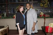 LOS ANGELES - DEC11: Kate Pazakis, Alex Newell at SPARKLE: An All-Star Holiday Concert to benefit The Actors Fund at Rockwell Table & Stage on December 11, 2014 in Los Angeles, California