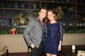 LOS ANGELES - DEC11: Scott Nevins, Elisa Donovan at SPARKLE: An All-Star Holiday Concert to benefit The Actors Fund at Rockwell Table & Stage on December 11, 2014 in Los Angeles, California